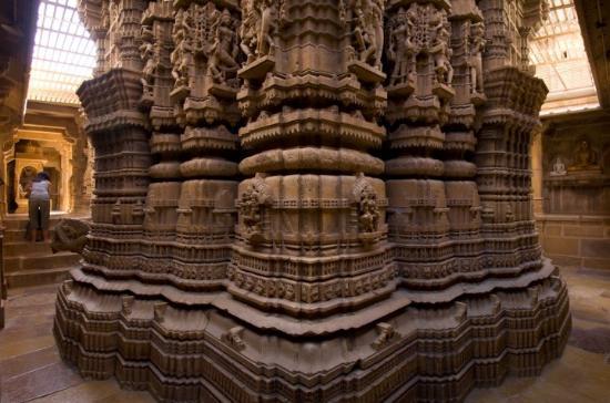 The Jain Temple in Jaisalmer, Rajasthan.
