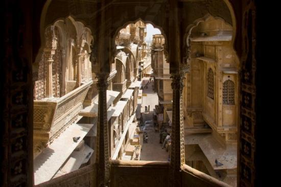 The Patwon-Ki-haveli, home of and incredibly wealthy merchant in Jaisalmer, Rajasthan