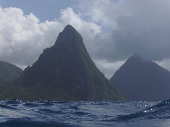 """DIVING  """"THE  PITONS',  ST.  LUCIA,  W.I."""