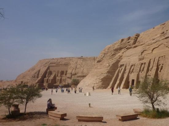 Abu Simbel, Egypt: view of both temples