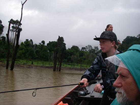 Khao Sok National Park, Thailand: Der fiskes efter Snakehead