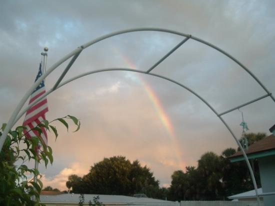 Jensen Beach, FL: rainbow over our home 9/26/09