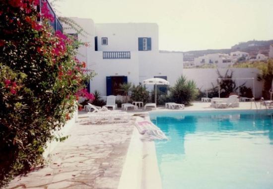 July 1997 Mykonos Island, Greece. Best Western Dionysus.