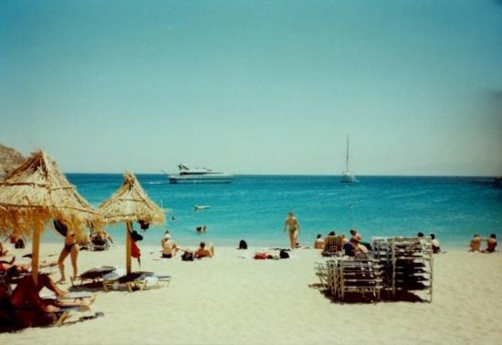 July 1997 Mykonos Island, Greece, Paradise Beach