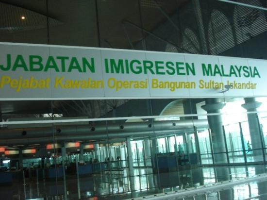 Johor Bahru, Malaysia: Malezya sinir kapisi