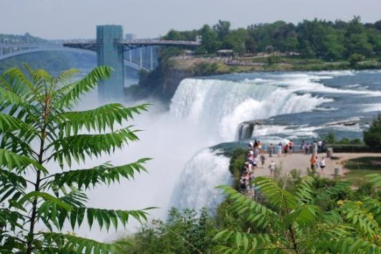 Niagara Falls, NY: Look at how little those people look against the falls!