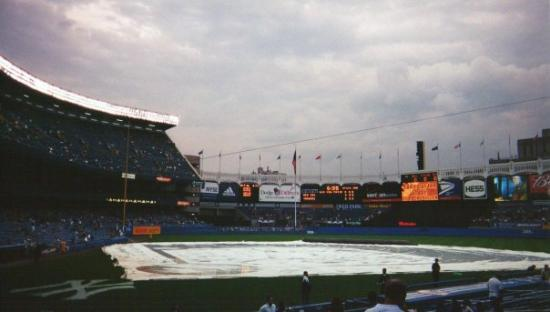 Yankee Stadium: The day before 9-11. I went to a rained out New York Yankee game