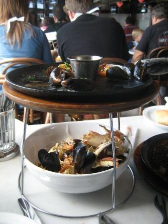 Crab House at Pier 39: Seafood on pier 39... well we were so excited we just tucked right in and the photo was more of