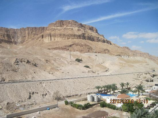 """Daniel Dead Sea Hotel: View from the balcony to the """"mount"""""""
