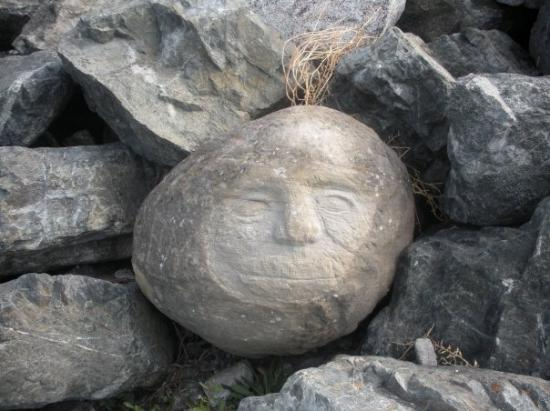 Someone carved this stone at the beach in Victoria
