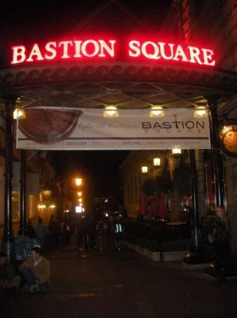 Bastion square downtown Victoria, lots of fun and great beer!