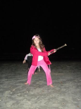 Galveston, TX: Watch out for ninja Kaitlyn!