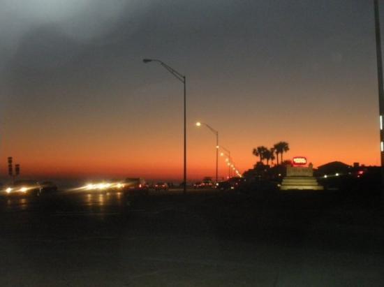 The sun setting over the Gulf of Mexico-Galveston
