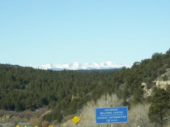 Santa Fe, NM: The Rockies as you cross the NM--CO border.