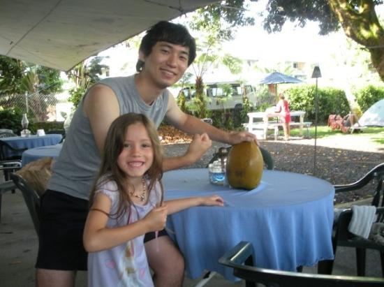 Hilo, HI: Kaitlyn found this coconut.