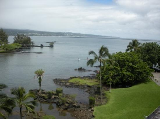 The view from our hotel room in Hilo.