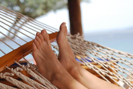 Captain Kirk's: wife's toes on the hammock