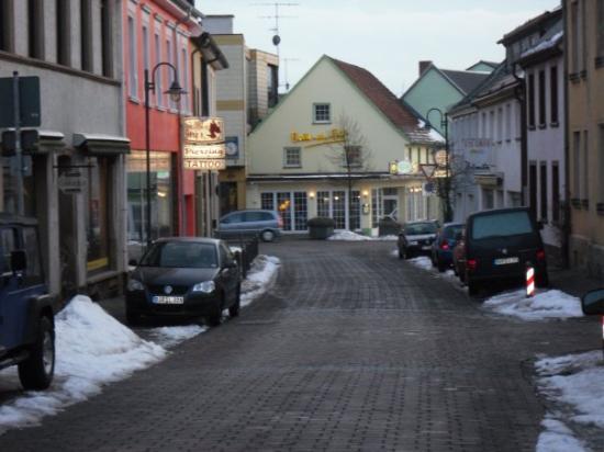 Baumholder, Tyskland: Down town Bar street.  Visa Vias
