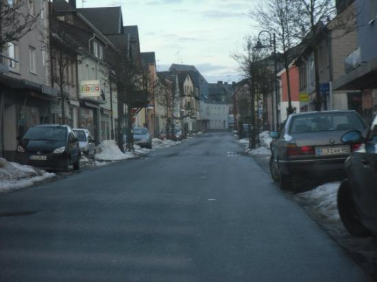 One of the 3 roads in Baumholder.