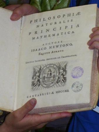 "First print edition of Isaac Newton's 'Philosphea Principale""-Castel Gandolfo"