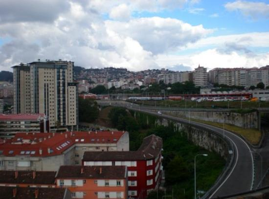 Vigo, Espagne : View from laundry room during the day