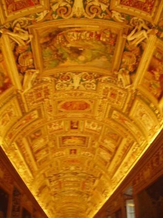 Vatikanske museer: Map room in the Vatican