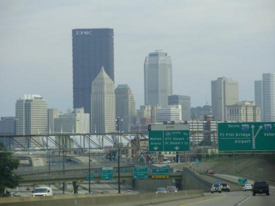 Pittsburgh, PA: FIRST VIEW OF CITY COMING FROM ERIE