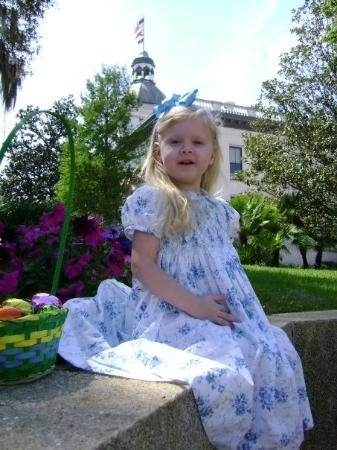 Tallahassee, FL: Madelyn on the Capitol grounds Easter 2008