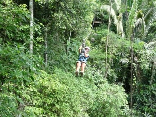 San Pedro, Belize: Ziplining in the Jungle.