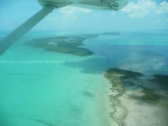 San Pedro, Belize: The view from the plane.