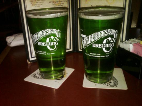 Fredericksburg Brewing Co.: happy st patties day and happy anniversary to my hubby!