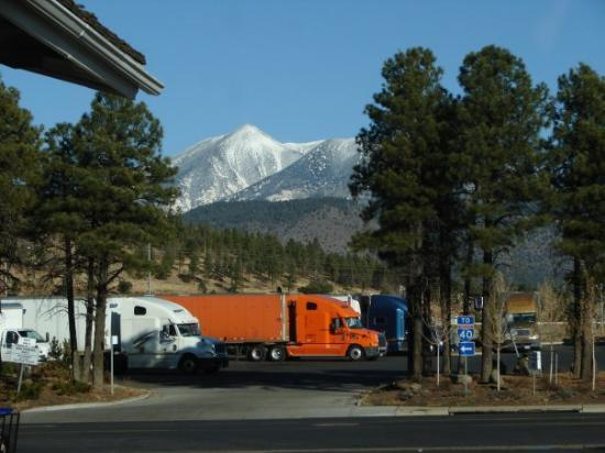 We woke up in Flagstaff, AZ and the mountains were snow covered...