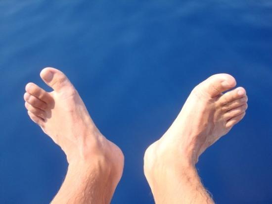 Kefallinia, Hellas: Perras fötter