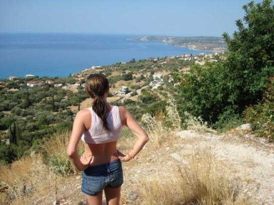 Kefallinia, Hellas: Vattenpaus på vespan