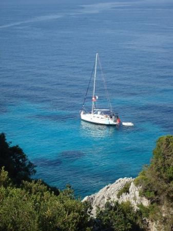 Kefallinia, Hellas: På den båten skulle jag vilja vara just nu.