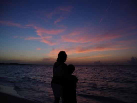 Providenciales: Me and Aaron at sunset