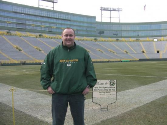 Lambeau Field: pitchside at the hallowed turf...........