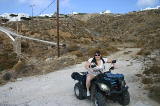 Mykonos by, Hellas: 4- wheeler what a way to see an island!