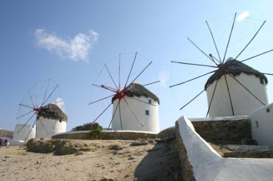Mykonos by, Hellas: Windmills in Mykonos