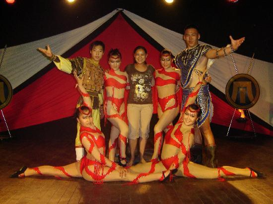 Excellence Punta Cana: Photo op with the Mongolian acrobats