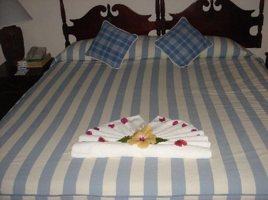 Couples Sans Souci: Our bed when we first arrived!