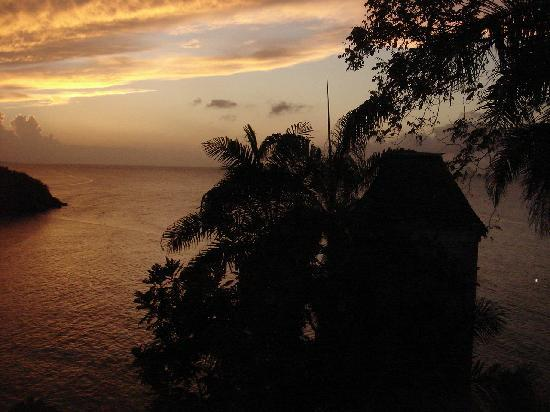 Couples Sans Souci: First Jamaican sunset we got to witness from our room