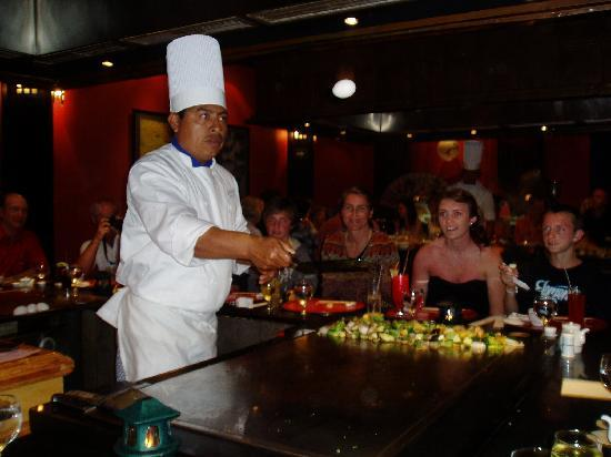 IBEROSTAR Paraiso Del Mar: Chef at Japanese restaurant at the Iberostar