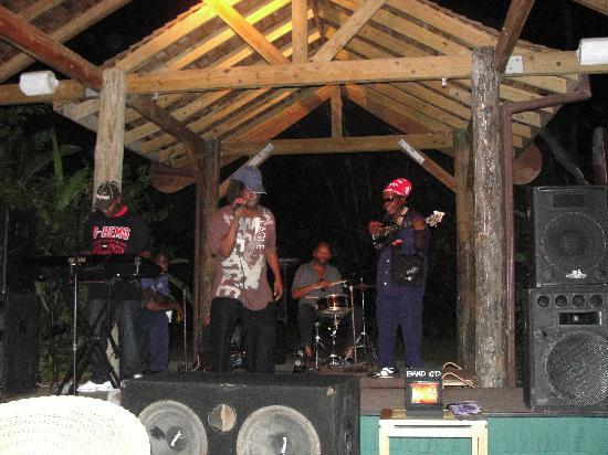 Sunset at the Palms: Foxtrot Reggae Band are regulars at the Palms