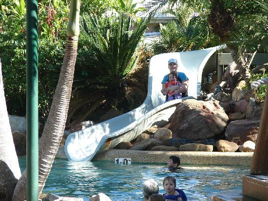 NRMA Treasure Island Holiday Resort: riding the waterslide