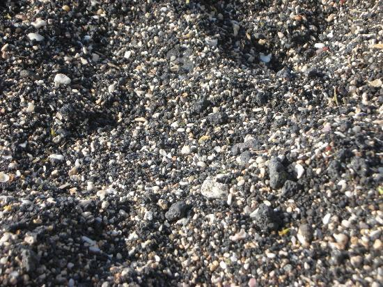 Waikoloa, HI: Black and white sand at Anaeho'omalu Beach (A-Bay)
