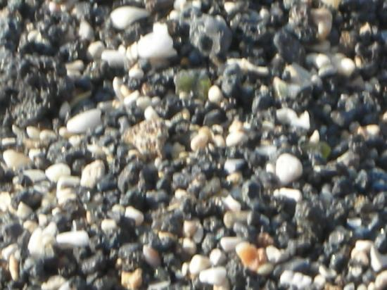 Waikoloa, HI: Black and white sand closer up (A-Bay)