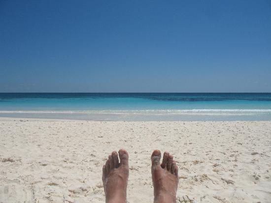 Playa Mambo: View from my beach chair