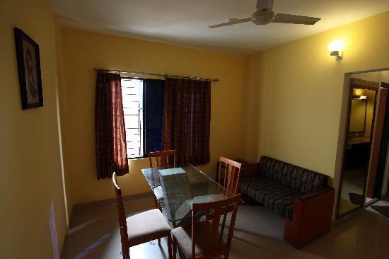 The sitting area of the suite in Hotel Rajawas in Dibrugarh, Assam, India