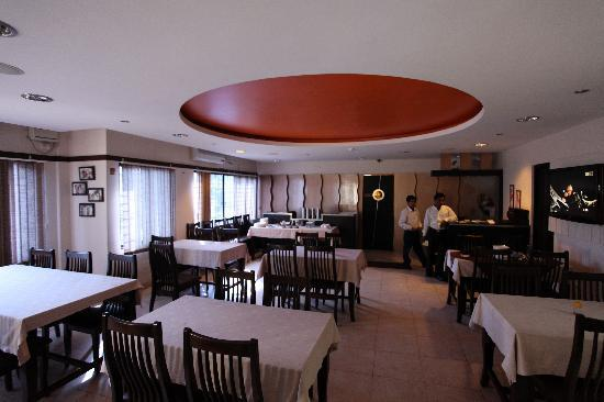 The Moti Mahal restaurant in Hotel Rajawas in Dibrugarh, Assam, India